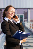 Businesswoman on the phone — Стоковое фото