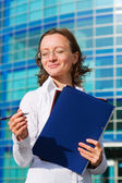 Happy businesswoman. — Stock Photo