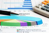 Burzovní grafy. — Stock fotografie