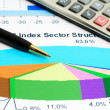 Financial graphs and charts analysis — Stock Photo #22790936