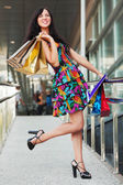Young woman with shopping bags — Foto Stock