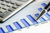 Financial graphs analysis — Stock Photo