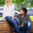 Stock Photo: Young couple in conflict