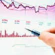 Financial graphs and charts analysis — Stock Photo #32494337