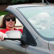 Young couple driving convertible car — Stock Photo #36693767