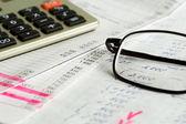財務グラフとチャートの分析 — ストック写真