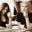 Young women eating an ice cream — Stock Photo #42065155