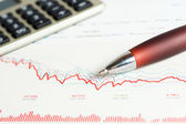 Finansiella diagram analys — Stockfoto