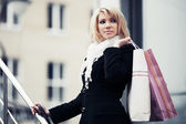 Fashion young woman with shopping bags  — Foto Stock