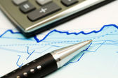 Financial accounting stock market graphs and charts — Stok fotoğraf