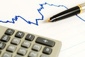 Financial accounting stock market graphs and charts — Stock Photo