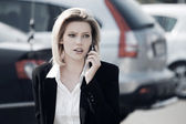 Young businesswoman calling on the phone  — Stock Photo