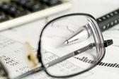 Financial accounting stock market graphs and charts — Stock Photo