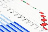 Finanz Rechnungswesen Aktienmarkt Grafiken und Diagramme — Stockfoto