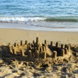 Sandcastle and the Sea — Stock Photo