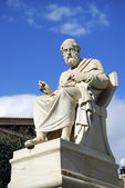 Statue of Plato at the Academy of Athens (Greece) — Stock Photo