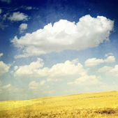 Clouds Over Yellow Fields — Stock Photo