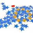 European Union map with stars — Stock Photo