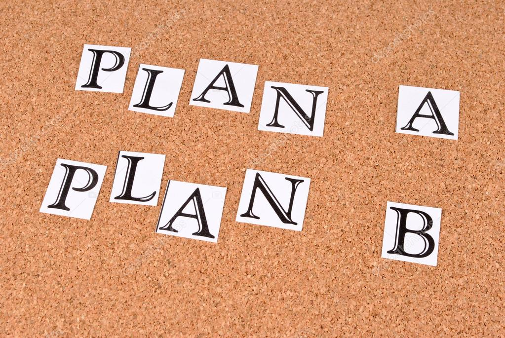 Plan A or plan B on cork-board — Stock Photo #12842924