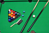 Billiard set — Fotografia Stock