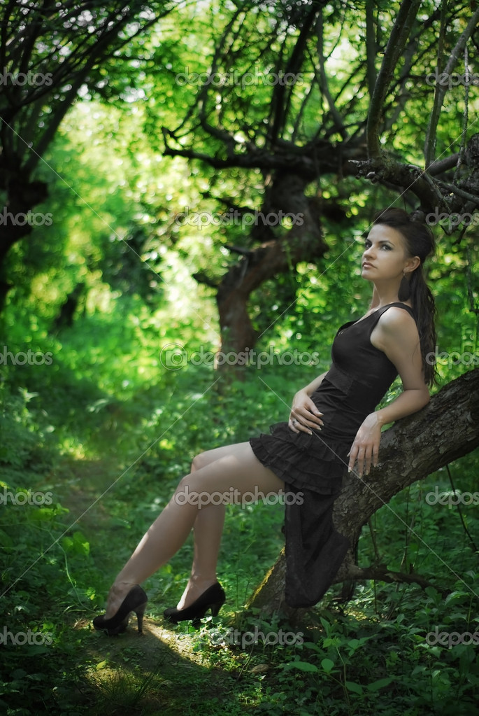 sexy model in nature stock photo cristi180884 12560549