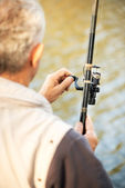 Fishing Rod and Reel — Stock Photo
