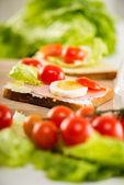 Fräsch smörgås — Stockfoto