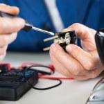 Repairing Old Power Plug — Stock Photo #41081533