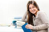 Student happy — Stockfoto