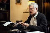 Retro Senior Man writer — Stock Photo