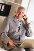 Senior businessman — Stock Photo