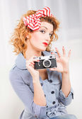 Pin Up Girl — Stock Photo