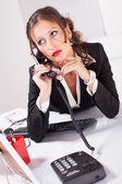 Attraktive sekretärin — Stockfoto