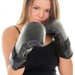 Boxing woman — Stock Photo #42222283