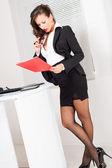 Sexy business woman — Stock Photo