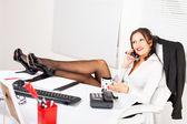 Hot business woman — Stock Photo