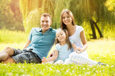Portrait of a smiling happy family — Stockfoto