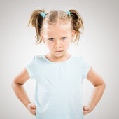 Angry little girl — Stock Photo