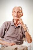 Portrait of elderly senior men — Stock Photo