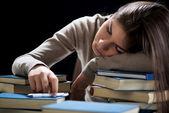 Sleeping student — Stock Photo