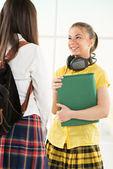 Šťastné studentky — Stock fotografie