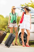 Female tourists — Stock Photo