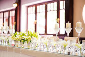 Wedding table decoration — Stock fotografie
