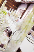 Wedding table decoration — Stock Photo