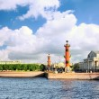 Stock Photo: St. Petersburg.View on Winter Palacel,Rostral columns.