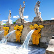 "Cascade Fountain ""Gold Mountain"" in Pertergof, Saint-Petersburg - Stock Photo"