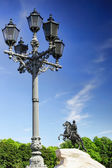 Peter I monument against blue sky. Saint-petersburg, Russia — Stock Photo