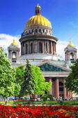 Saint Isaac's Cathedral in St Petersburg — Stock Photo