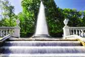 "Fountain ""Pyramid"" in Pertergof, Saint-Petersburg, Russia — Stock Photo"