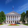 Beautiful architecture Smolny Palace St. Petersburg. - Stock Photo